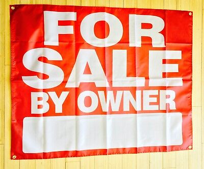 Large For Sale By Owner Banner Flag Poster