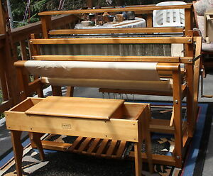 Leclerc Floor Loom and Weaving Bench