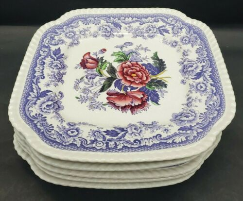 Spode MAYFLOWER Square Salad Plates
