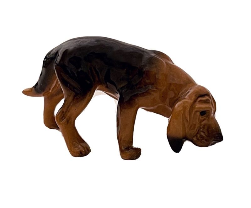 Vintage Hagen Renaker DW Pedigree Line San Dimas Miniature Porcelain Bloodhound