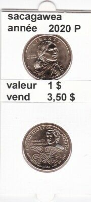 e4 )pieces de 1 $ sacagawea 2020 P