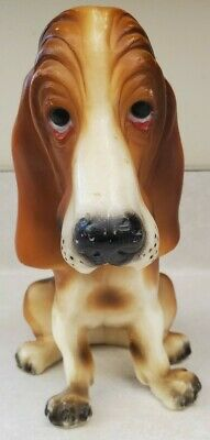 "Vintage Breyer Molding Co. Sad Face Bassett Hound Dog Figure 7.5"" Plastic"