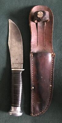 KA-BAR UNION CUT.CO.OLEAN,N.Y. VINTAGE HUNTING KNIFE IN NICE CONDITION RARE OS.