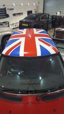 Mini Union Jack Dach Vinyl Aufkleber Grafik Abziehbilder Satz Standard Farben gebraucht kaufen  Versand nach Germany