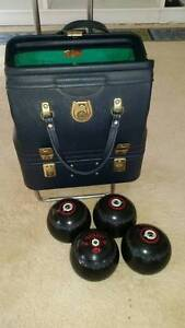 Lawn Bowls (set of 4), carry bag & trolley Turramurra Ku-ring-gai Area Preview