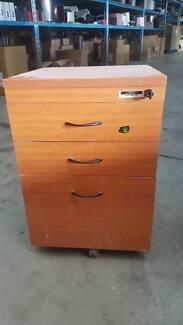 THREE DRAWER PEDESTAL office work cabinet study storage drawers