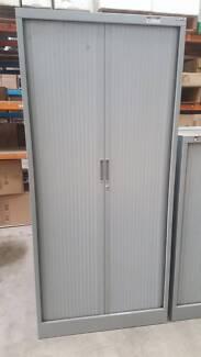 LARGE GREY TAMBOUR - cabinet storage shelving office work