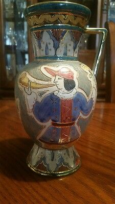 Maioliche Deruta Italian Signed Vase V 68 20  Dervta Stamp  Beautiful