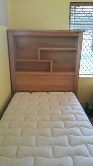 King Single Bed Frame with draws, bookcase headborad + Mattress Cairns Region Preview