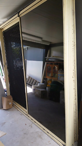 Glass sliding door with security screens Logan Central Logan Area Preview