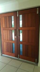 DOOR WOODEN - with glass panels - VGC Bongaree Caboolture Area Preview