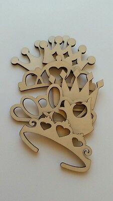 Wooden Cut Outs Princess/Prince/ King/ Queen Crowns and - Queen Crowns And Tiaras