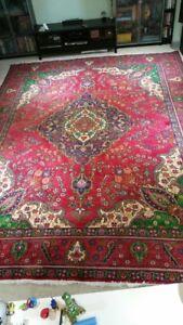 Persian handmade extra large wool rug