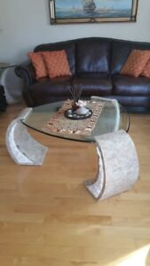 Marble/Stone Accent Tables - Set of 4