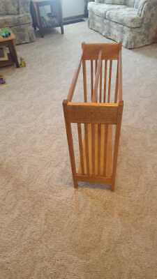 Golden oak quilt rack with board in bottom, used for sale  Independence