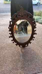 Antique timber carved console and mirror Campbelltown Campbelltown Area Preview