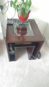 Corner Table x 2, center table, and Dining Table