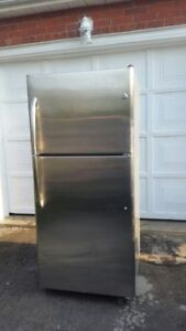 GE Stainless Steel Refrigerator, free delivery