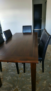 Extendable timber dinning table Coombs Molonglo Valley Preview