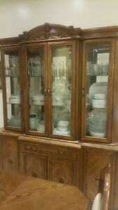 Buffet hutch and table set
