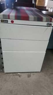 WHITE METAL PEDESTAL drawers filing cabinet office work storage