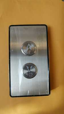 Hall Operating Panel 2 Push Buttons Blue Led Elevator Lift Modernization Parts