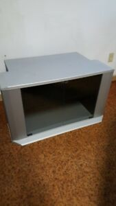 Tv stand with tinted glass
