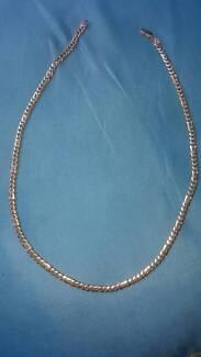 9k Gold , 35 gram birdseye link necklace