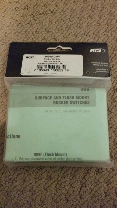 RUTHERFORD CONTROLS RCI 909SMOW ROCKER SWITCH SURFACE MOUNT