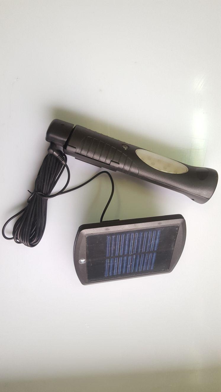 torcia led ricaricabile a energia solare doppia lampada da parete con pannello