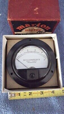 Vintage Nos 3-12 Marion Electrical Meter 0-5 Ma Dc