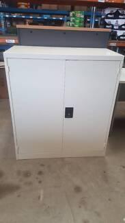 STATIONERY CUPBOARD - storage cabinet metal office work garage