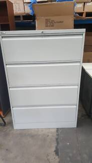 4 DRAWER LATERAL FILING CABINET storage office work filing study