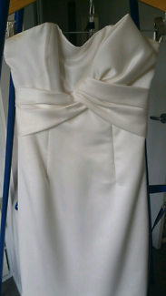 Classic mermaid Silk wedding dress, suitable for cocktail party.