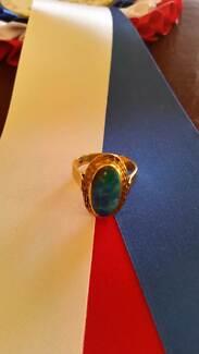 Ladies opal dress ring