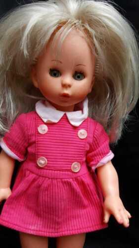 "Vintage Italocremona Doll 1967 Blonde Sleepy Eyes ""Adriana"" # 672 Pink Dress"