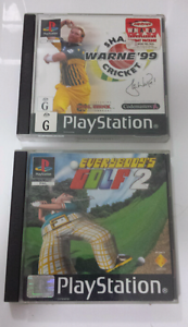 Shane Warne Cricket Everybody's Golf 2 PS1 PSOne PSX Adamstown Newcastle Area Preview