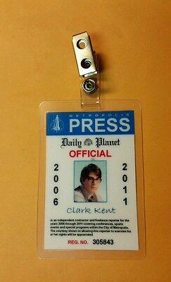 Superman Returns ID Badge-Clark Kent Reporter costume prop cosplay