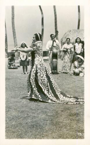 1940 Kodak Hula Show dancer Waikiki,  Hawaii photo