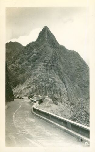 1940 going up the  Nuʻuanu Pali road  Hawaii photo #2
