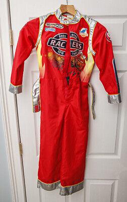 Kids Lightning Mcqueen Costume (Disney Store Lightning McQueen Costume Cars Lightup Sound Child Size Medium)