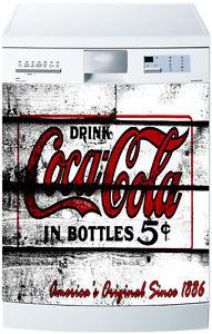 sticker lave vaisselle d co cuisine vintage coca cola ref. Black Bedroom Furniture Sets. Home Design Ideas