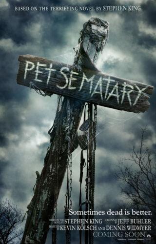 Pet Sematary Movie Poster 2 Sided Original Intl Advance 27x40 Jason Clarke