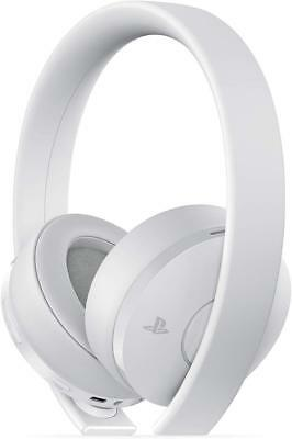 Sony Gold Wireless Stereo Headset for PlayStation 4 - White In Box - UD (READ)