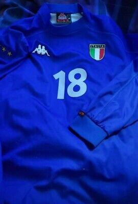 ITALY 1999 AUTHENTIC LARGE ROBERTO BAGGIO KAPPA JERSEY