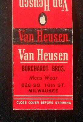 1940s Men's Shirts, Sweaters, Vests 1940s Van Heusen Shirts Borchardt Bros. Mens Wear 826 So. 16th St. Milwaukee WI $4.82 AT vintagedancer.com