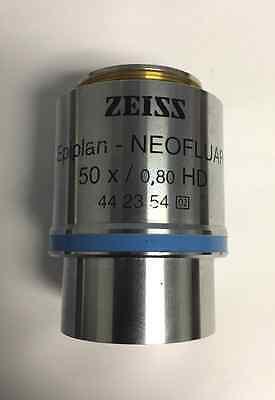 Great Zeiss Microscope Objective Epiplan - Neofluar 50x0.80 Hd Pn 442354