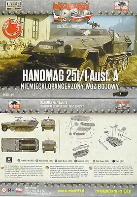 Sd.Kfz.251/1 Ausf.A ,Hanomag, First To Fight,1/72, Plastik ,NEU,