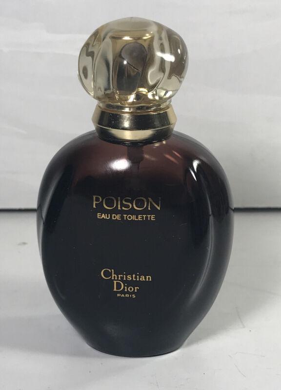 Poison Eau De Toilette by Christian Dior Paris 1.7oz 75% Full