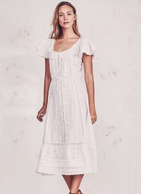 Loveshackfancy Madeline White Cotton Eyelet Dress Size Small NWT Heavenly!